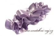 Krásný podvazek ve fialové barvě