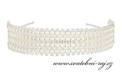 806052a7673 Luxusní čelenka s perlami