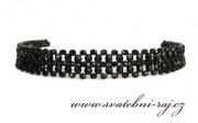 Zobrazit detail - Krásná čelenka z černých perel