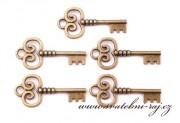 Malé klíče ve stylu Vintage