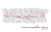Zobrazit detail - Krásný podvazek s růžovou stuhou
