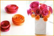 Růže z papíru - návod na výrobu
