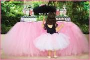 Tylová stolová sukně - návod