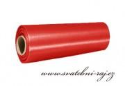 Satén v roli červený, 15 cm šíře