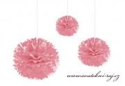 Pom Poms růžové, průměr 20 cm