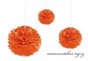 Pom Poms oranžové, průměr 20 cm