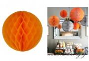 Koule Honeycomb oranžová, 30 cm průměr