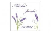 Zobrazit detail - Svatební samolepka Provence