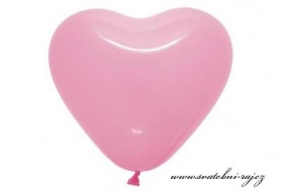 Růžový balónek srdce