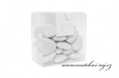 Bílá srdíčka čokoládová