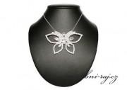 Zobrazit detail - Štrasový náhrdelník s motýlem