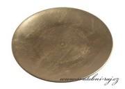 Zobrazit detail - Zlatý dekorační talíř, průměr 22 cm