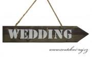 Zobrazit detail - Dřevěná šipka - Wedding