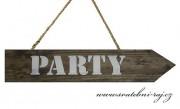 Zobrazit detail - Dřevěná šipka - Party