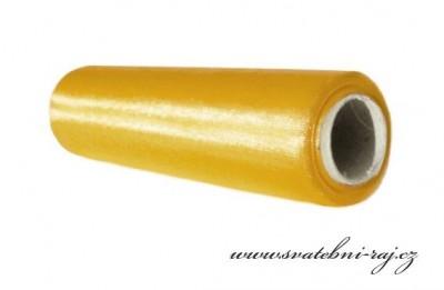Organza žlutá úzká