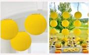 Papírová koule žlutá, 20 cm průměr
