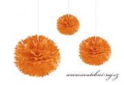 Pom Poms pomerančové, průměr 30 cm