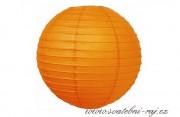 Papírový lampion oranžový, průměr 40 cm