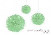 Pom Poms mint-green, průměr 45 cm