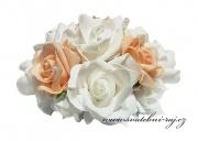 Kytice z pěnových růží bílo-lososové