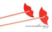 Červená pusinka na brčko
