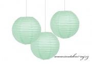 Lampion koule mint-pistácie, průměr 20 cm