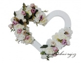 Zobrazit detail - Luxusní srdce na auto zdobené květinami