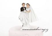 Romantická svatební figurka na dort