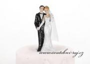 Romantické figurky na dort