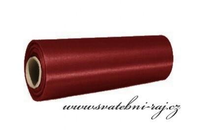 Satén vínový, 15 cm šíře