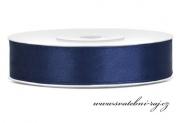 Zobrazit detail - Saténová stuha navy blue, šíře 12 mm