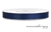 Zobrazit detail - Saténová stuha navy blue, šíře 6 mm