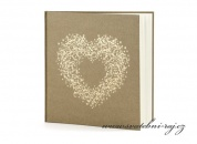 Zobrazit detail - Svatební kniha hostů srdce
