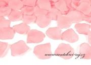Textilní plátky růží růžové