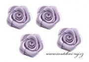 Zobrazit detail - Textilní růžička světle fialová