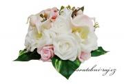 Zobrazit detail - Květina na automobil kaly a růže