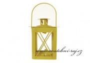 Kovová lucerna pastělově žlutá
