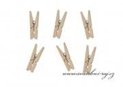 Mini kolíčky dřevěné přírodní - 3 cm