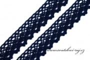 Zobrazit detail - Paličkovaná krajka navy blue, šíře 2,8 cm