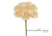 Zobrazit detail - Pěnová růže meruňková, průměr 6 cm