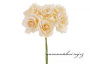 Zobrazit detail - Pěnová růže meruňková, průměr 7 cm