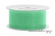 Zobrazit detail - Šifónová stuha mint-green, šíře 38 mm