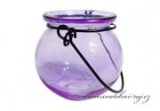 Svíčník na zavěšení fialový