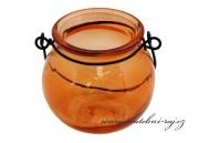 Svíčník na zavěšení oranžový