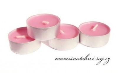 Malinové čajové svíčky