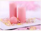 Perličky na silonu v růžové barvě