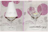 Zobrazit detail - Stínítko na skleničku se srdíčky
