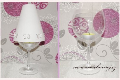 Stínítko na skleničku