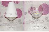 Stínítko na skleničku s květinkami