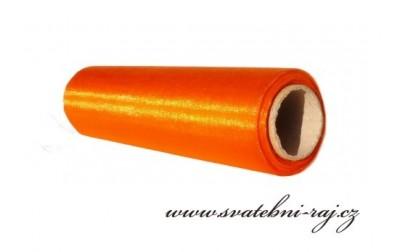 Dekorační organza oranžová